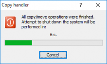 Shutdown notification window